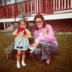 Mom, me & Lis 1974 cropped
